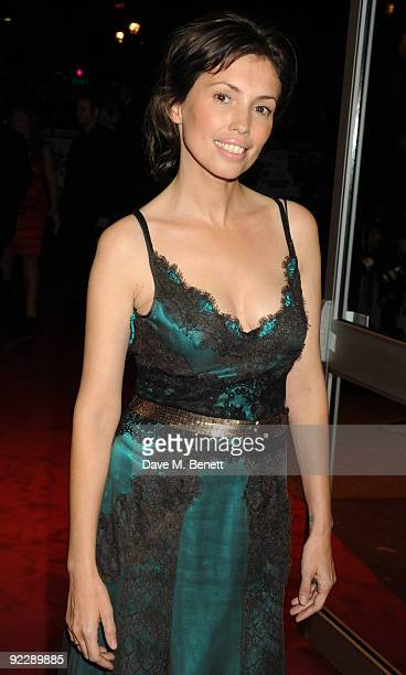 Actress Jane March arrives at the UK film premiere of 'Dead Man Running' at the Odeon West End on October 22 2009 in London England