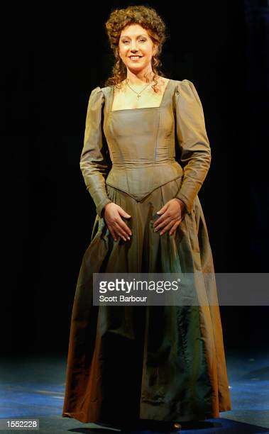 Actress Jane McDonald who plays the part of the Nurse poses for photographers during a photocall for Romeo and Juliet The Musical October 30 2002 in...