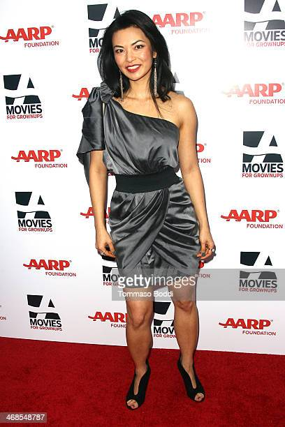 Actress Jane Park Smith attends the AARP's Movies For Grownups Awards Gala held at the Regent Beverly Wilshire Hotel on February 10 2014 in Beverly...