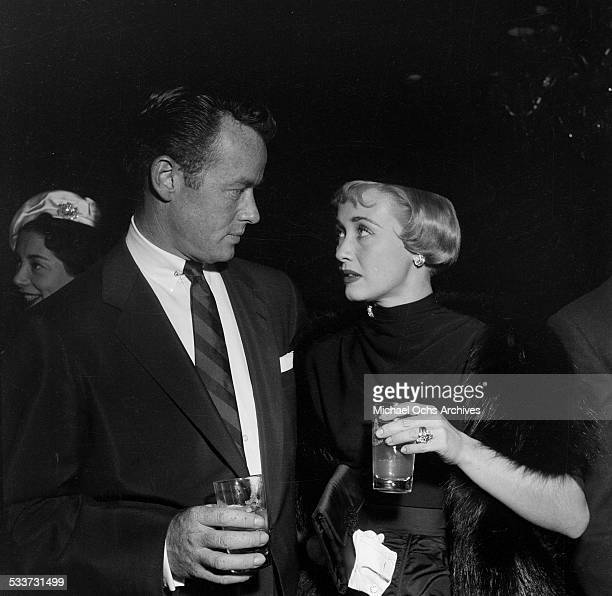Actress Jane Powell and Patrick Nerney attend the Cantors party for Debbie Reynolds and Eddie Fisher in Los AngelesCA