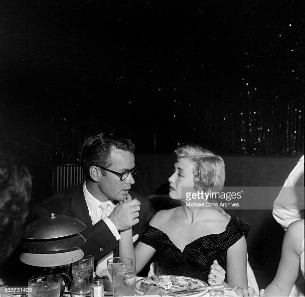 Actress Jane Powell and Patrick Nerney have dinner at Cocoanut Grove in Los AngelesCA