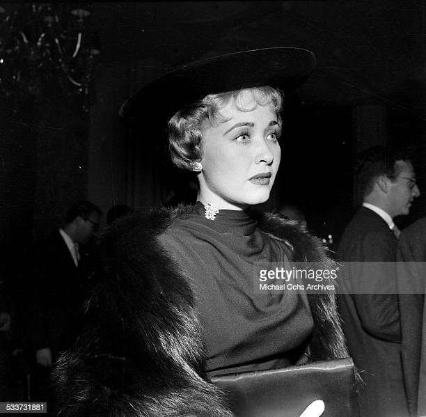 Actress Jane Powell attends the Cantors party for Debbie Reynolds and Eddie Fisher in Los AngelesCA