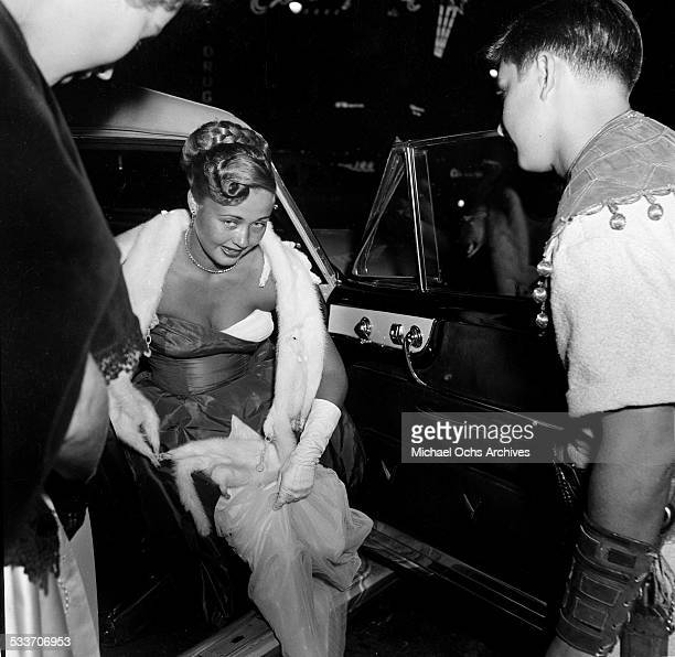 Actress Jane Powell attends the premiere of David and Bathsheba in Los AngelesCA