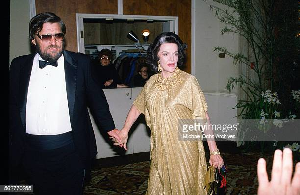 Actress Jane Russell arrives to the 55th Academy Awards at Dorothy Chandler Pavilion in Los Angeles,California.