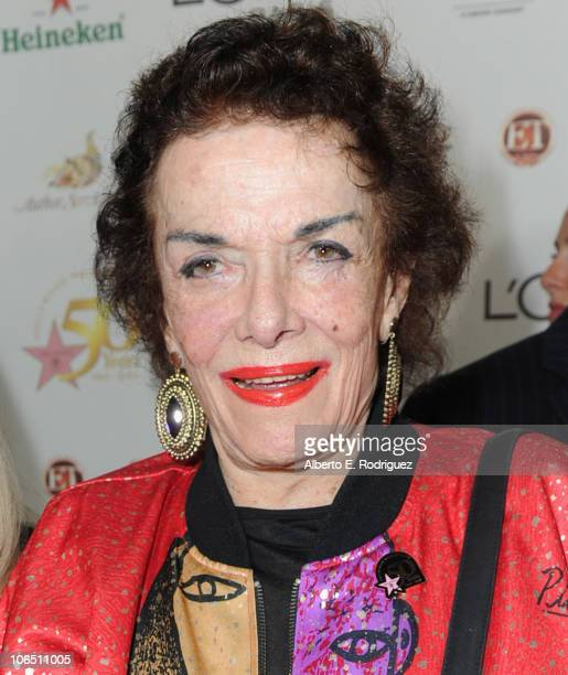 Actress Jane Russell arrives to the Hollywood Walk of Fame's 50th Anniversary Celebration on November 3 2010 in Hollywood California