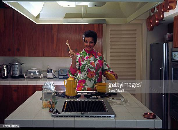 Actress Jane Russell at home on February 241970 in Hollywood California