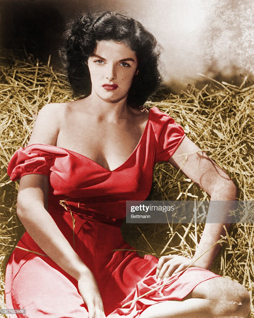 Actress Jane Russell in The Outlaw : News Photo