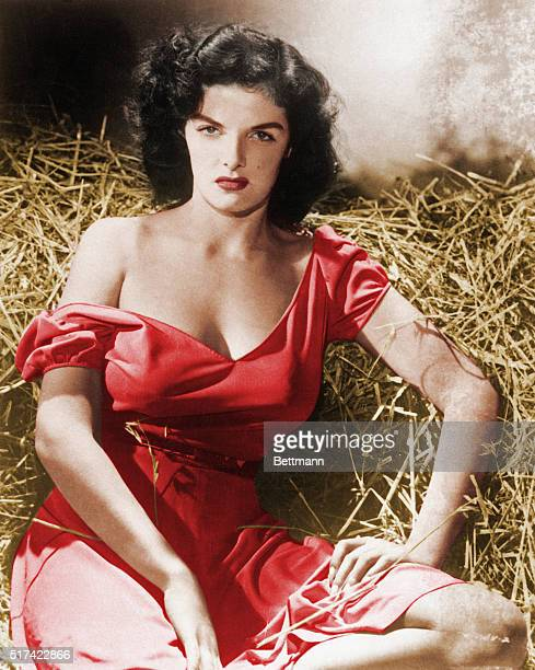 Actress Jane Russell in The Outlaw