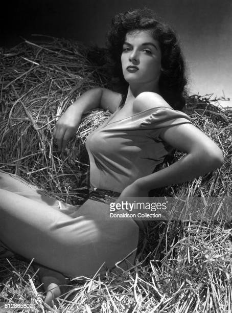 """Actress Jane Russell in a portrait session for the movie """"The Outlaw"""" which was released on February 5, 1943."""