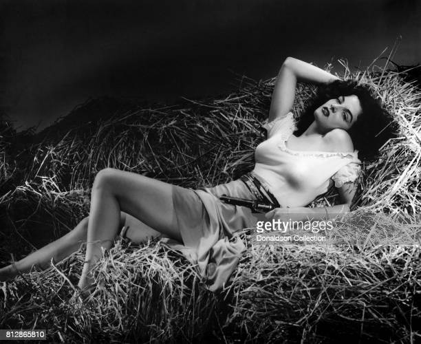 Actress Jane Russell in a portrait session for the movie The Outlaw which was released on February 5 1943