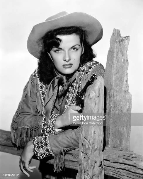 """Actress Jane Russell in a portrait session for the movie """"The Paleface"""" which was released December 24, 1948."""
