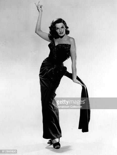 Actress Jane Russell in a portrait session for the movie The Revolt of Mamie Stover which was released June 22 1956