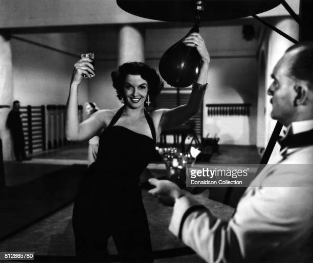 Actress Jane Russell in a scene from the movie Gentlemen Prefer Blondes which was released in 1953