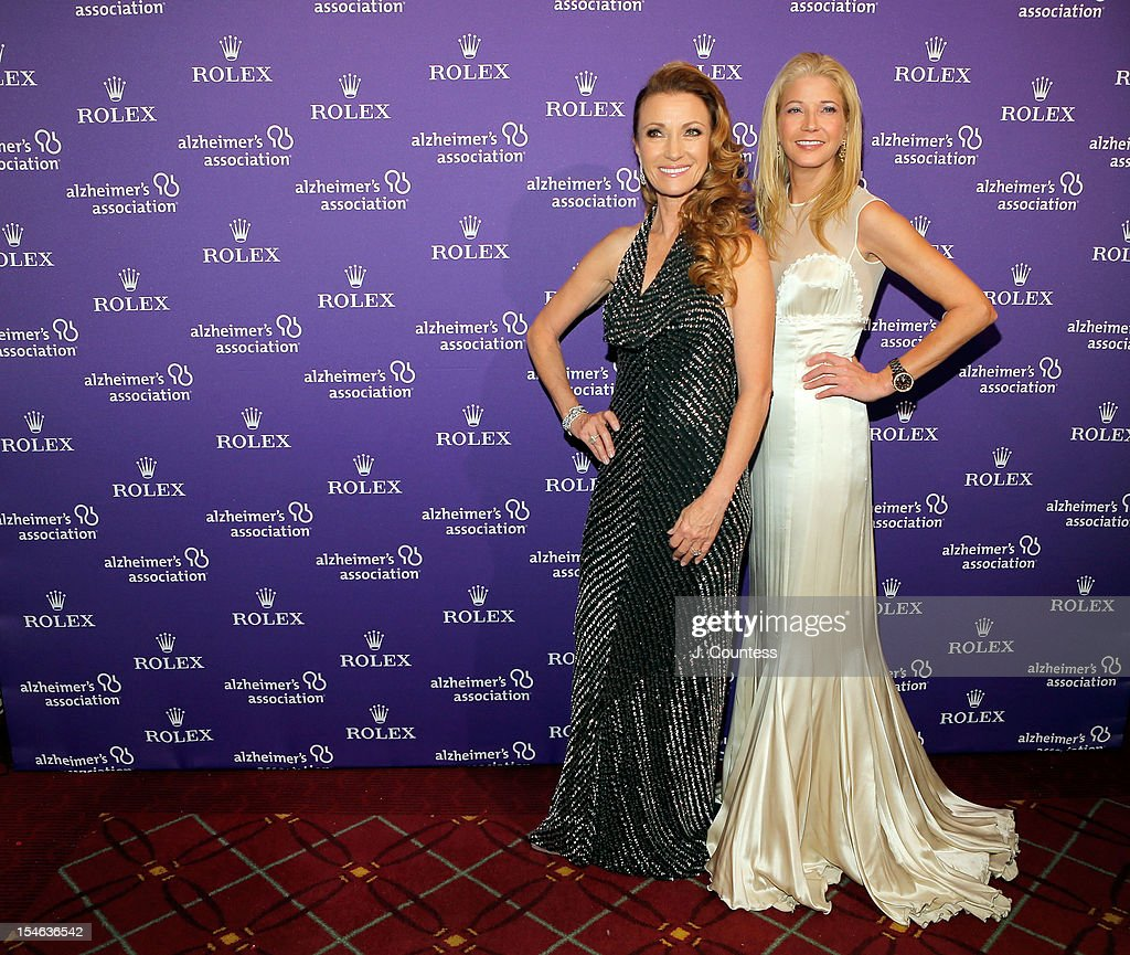 Actress Jane Seymour and author Candace Bushnell attend the 2012 Alzheimer Association Rita Hayworth Gala at The Waldorf Astoria on October 23, 2012 in New York City.
