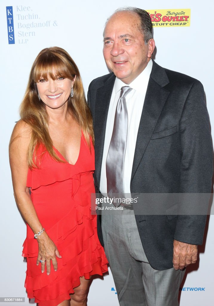 Actress Jane Seymour (L) and Former Professional Athlete Johnny Bench (R) attend the 17th Annual Harold & Carole Pump Foundation Gala at The Beverly Hilton Hotel on August 11, 2017 in Beverly Hills, California.