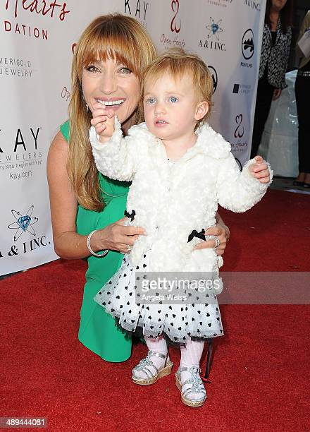 Actress Jane Seymour and grand daughter Willa attend the 'Open Hearts Foundation Gala' on May 10 2014 in Malibu California