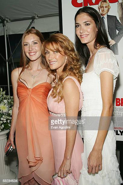 Actress Jane Seymour and her daughters Katherine and Jennifer Flynn attend the premiere of Wedding Crashers at the Ziegfeld Theatre July 13 2005 in...