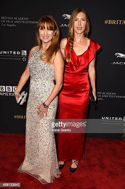 Actress Jane Seymour and Katherine Flynn attend the 2014 BAFTA Los Angeles Jaguar Britannia Awards Presented By BBC America And United Airlines at...