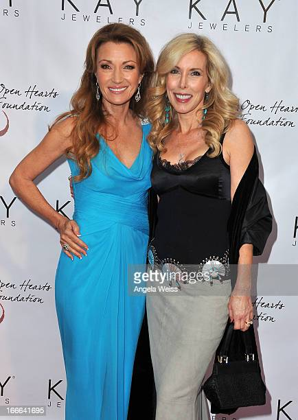 Actress Jane Seymour and Kim Campbell attend Jane Seymour's 3rd annual Open Hearts Foundation celebration at a private residence on April 13 2013 in...