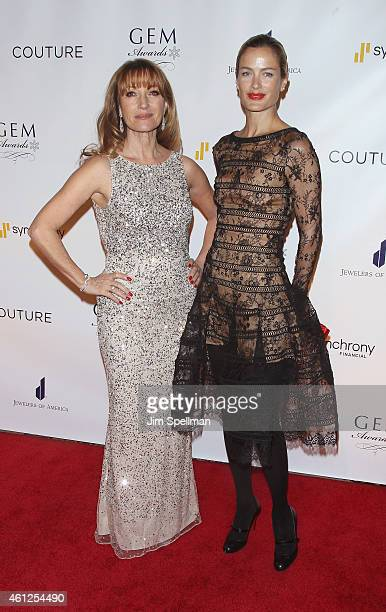 Actress Jane Seymour and model Carolyn Murphy attend the 13th Annual GEM Awards Gala at Cipriani 42nd Street on January 9 2015 in New York City