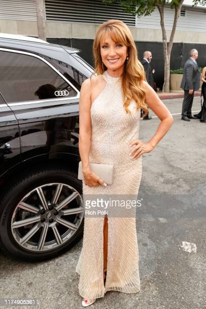 Actress Jane Seymour arrives at Audi Celebrates the 71st Creative Arts Emmy Awards at Microsoft Theater on September 15 2019 in Los Angeles California
