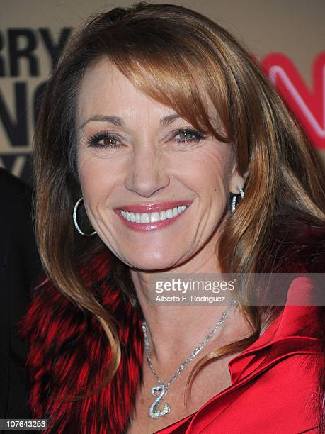 Actress Jane Seymour arrives at CNN's Larry King Live final broadcast party at Spago restaurant on December 16 2010 in Beverly Hills California