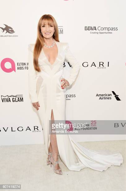 Actress Jane Seymour arrives at the 26th Annual Elton John AIDS Foundation's Academy Awards Viewing Party on March 4 2018 in West Hollywood California