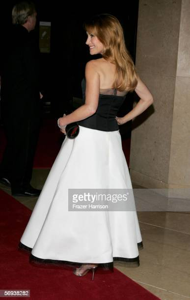 Actress Jane Seymour arrives at the 8th Annual Costume Designers Guild Awards held at the Beverly Hilton Hotel on February 25 2006 in Beverly Hills...