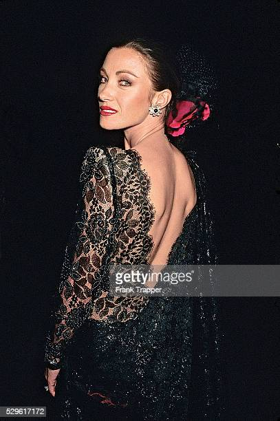 Actress Jane Seymour arrives at the Christian Lacroix fashion show This image appears on page 36 in Frank Trapper's RED CARPET book