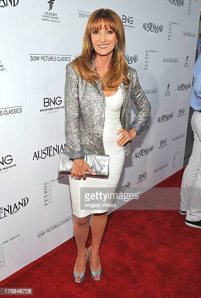 Actress Jane Seymour arrives at the premiere of 'Austenland' at ArcLight Hollywood on August 8 2013 in Hollywood California