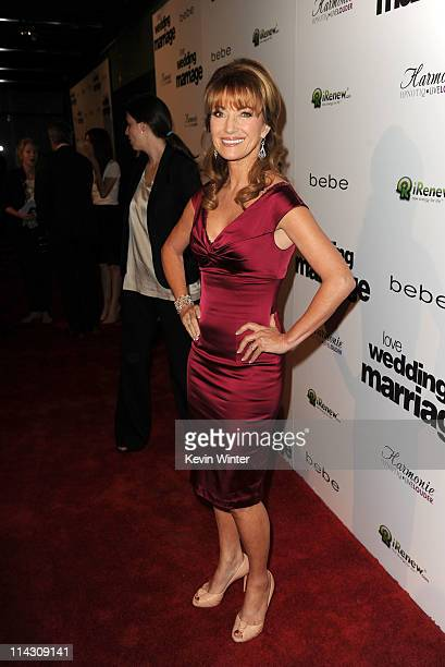 Actress Jane Seymour arrives at the premiere of IFC Films' Love Wedding Marriage held at the Pacific Design Center on May 17 2011 in West Hollywood...