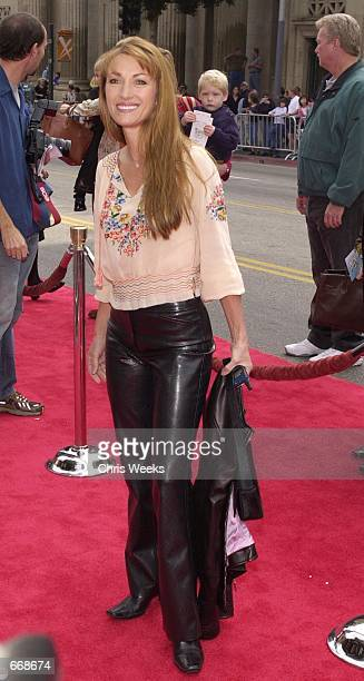 Actress Jane Seymour arrives at the premiere of Paramount's 'Rugrats in Paris The Movie' November 5 2000 at Mann's Chinese Theatre in Hollywood CA