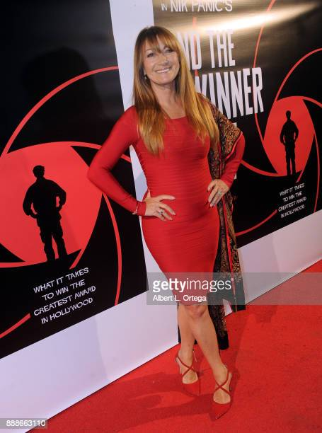 Actress Jane Seymour arrives for the Premiere Of 'And The Winner Isn't' at Laemmle Music Hall on December 8 2017 in Beverly Hills California