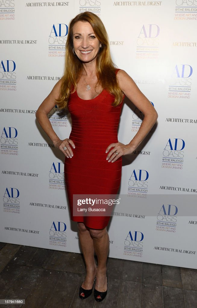 Actress Jane Seymour arrives to AD Oasis & Sunbrella host Cocktail Party Celebrating AD100 Designer Mark Cunningham at The Raleigh on December 7, 2012 in Miami, Florida.