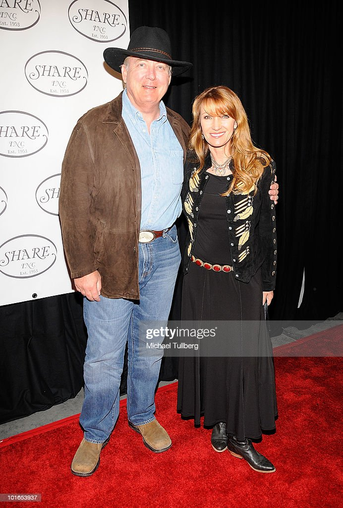 Actress Jane Seymour (R) arrives with husband James Keach at SHARE's 57th Annual BOOMTOWN Event to help at-risk youth held at the Santa Monica Civic Auditorium on June 5, 2010 in Santa Monica, California.