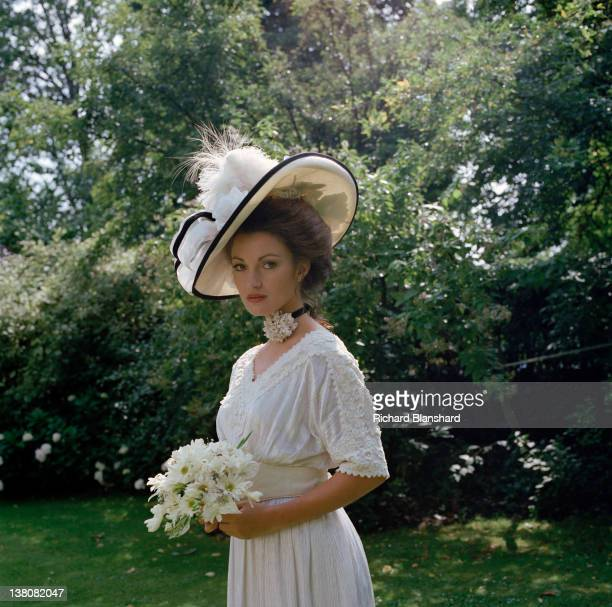 Actress Jane Seymour as she appears in the film 'Somewhere in Time', 1980.