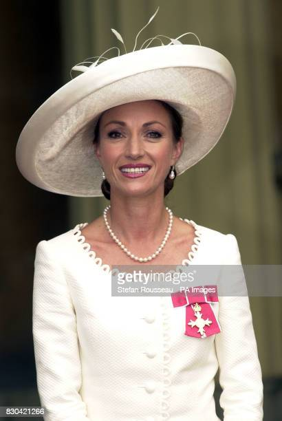 Actress Jane Seymour at Buckingham Palace in London where she received an OBE from Queen Elizabeth II