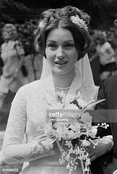 Actress Jane Seymour at her wedding to theatre director Michael Attenborough UK 10th July 1971