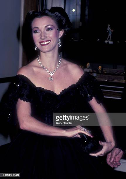 Actress Jane Seymour attends 40th Annual Golden Globe Awards on January 29 1983 at the Beverly Hilton Hotel in Beverly Hills California