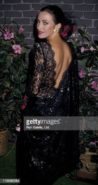 Actress Jane Seymour attends Christian Lacroix Fashion Show on November 4 1987 at 20th Century Fox Studios in Century City California