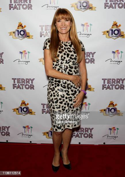 Actress Jane Seymour attends Terry Fator's 10th anniversary show at The Mirage Hotel Casino on March 15 2019 in Las Vegas Nevada