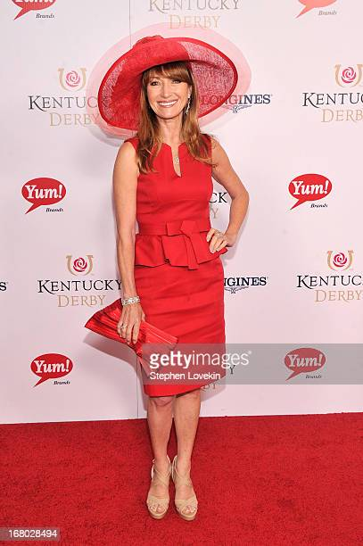 Actress Jane Seymour attends the 139th Kentucky Derby at Churchill Downs on May 4 2013 in Louisville Kentucky