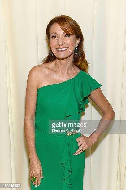 Actress Jane Seymour attends the 21st Annual Elton John AIDS Foundation Academy Awards Viewing Party at West Hollywood Park on February 24 2013 in...