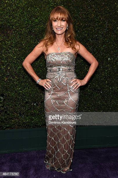 Actress Jane Seymour attends the 23rd Annual Elton John AIDS Foundation Academy Awards Viewing Party on February 22 2015 in Los Angeles California