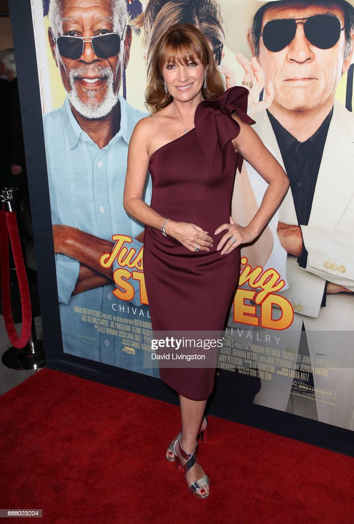Actress Jane Seymour attends the premiere of Broad Green Pictures' 'Just Getting Started' at ArcLight Hollywood on December 7, 2017 in Hollywood, California.