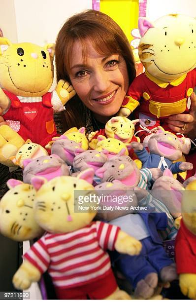 Actress Jane Seymour is surrounded by her new line of toys from the animated special This One 'N That One based on her series of childrens books