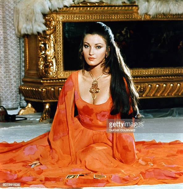 Actress Jane Seymour on the set of Live And Let Die