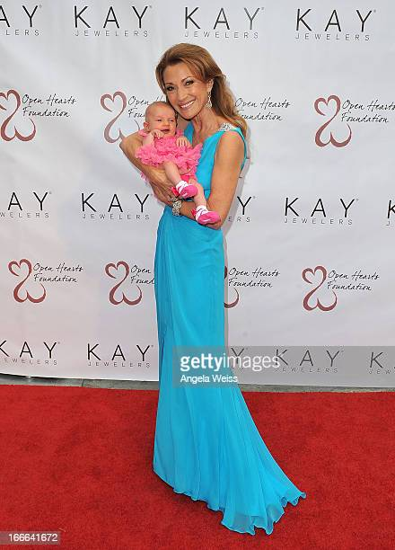 Actress Jane Seymour with her granddaughter attends her 3rd annual Open Hearts Foundation celebration at a private residence on April 13, 2013 in...
