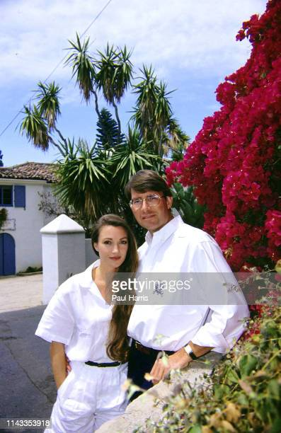 Actress Jane Seymour with her husband in 1990 David Flynn, standing in the garden May 16, 1990 of their Montecito, near Santa Barbara...