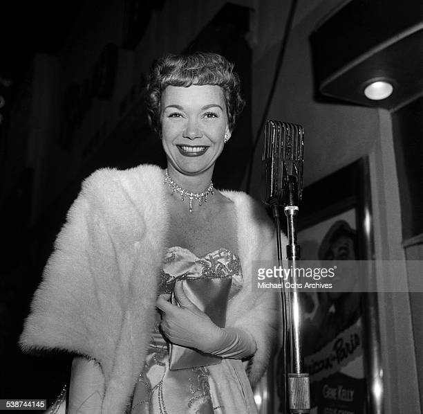Actress Jane Wyman attends the movie premiere for An American in Paris in Los AngelesCA